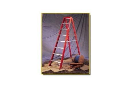 Step Ladder - 6 Tread Fibreglass Steps 1.65m Open