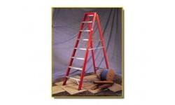 Step Ladder - 10 Tread Fibreglass Steps 2.74m Open