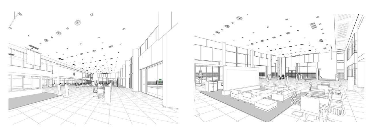 BIM example - showroom