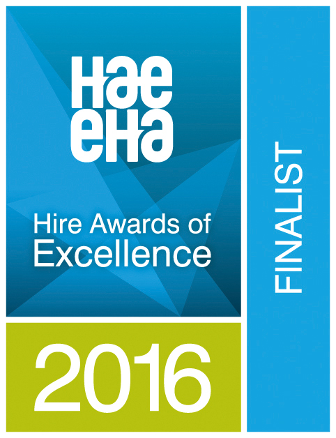HAE Hire Awards of Excellence 2016 Finalist